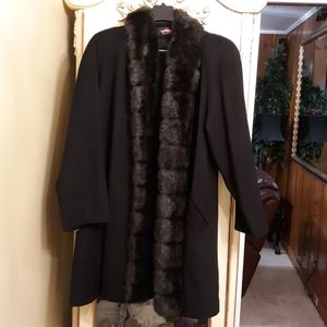 Jackets & Blazers - Fur and Wool like cashmere coat